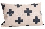 Bantal Sofa Decoration Motif Plus Black Long Q3364